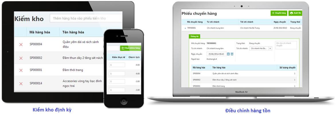 Phần mềm quản lý kho, hàng tồn kho tại KiotViet